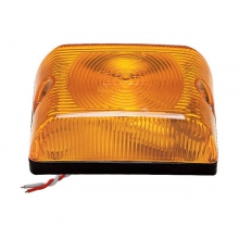 LANTERNA LATERAL CARROCERIA LED COM LENTE ARREDONDA AM/CR/VM